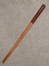 WW1 Rare English Military Malacca Swagger Stick With Cladded Pigskin Handle