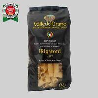 RIGATONI - PASTA DI SEMOLA DI GRANO DURO 100 % SICILIA VALLE DEL GRANO 500 G