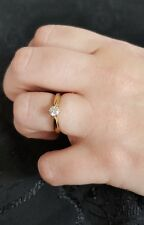 Diamond Solitaire engagement ring , 18ct gold size K