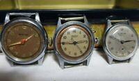 orologio stile militare  Watex 15 jewels  Socar lapanouse  lotto 3 pezzi ricambi