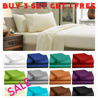 Fitted Bed Sheet Flat Sheets 1900 Series 14 Deep Pocket Wrinkle Free