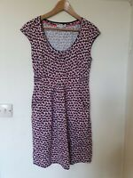 Boden Abstract Print Tinic Dress With Pockets Size 10 R