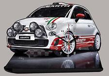 VOITURE ITALIENNE FIAT 500 WRC-07 EN HORLOGE MINIATURE