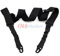 Outdoor Hunting Tactical 2/Dual-Point Adjustable Bungee Rifle Gun Sling Strap