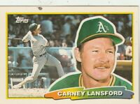 FREE SHIPPING-MINT-1988 Topps Big Carney Lansford #221 ATHLETICS +BONUS CARDS