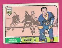 1968-69 OPC # 38 KINGS GORDON LABOSSIERE ROOKIE VG CARD  (INV# C1460)