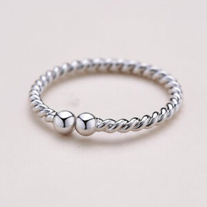 925 Sterling Solid Silver Adjustable Open Band Thumb Ring Jewellery Gift Ladies