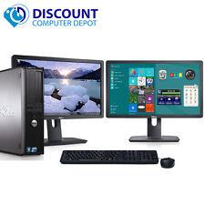 """Dell Optiplex Windows 10 Desktop PC Intel C2D 2.13Ghz 4GB 160GB Dual 17"""" LCD's"""