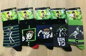 BEN 10 & Aliens Cotton MIx Socks Cartoon Network Character size 6-8.5 Boys Girls