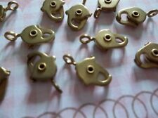 Lobster Clasps - Solid Raw Brass - Ice Pick Style - 10mm Size Lead Free - Qty 12