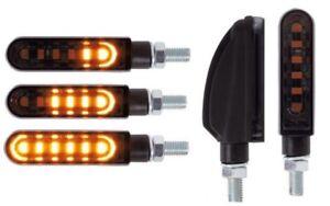 SMD LED Indicator Sequential Kawasaki Yamaha Bimota KTM Tinted Black Pair