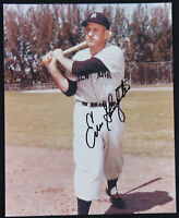 Enos Slaughter New York Yankees Baseball Autographed Signed 8x10 Color Photo