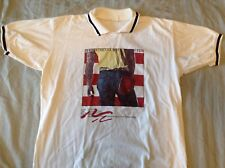Vintage Bruce Springsteen Born In The Usa Collared Golf Shirt 1980s Rare!