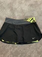 Womens Nike Black And Neon Yellow Tennis Skirt Size Small