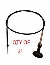 "QTY (2) 57"" Multi Use Push Pull Choke Cable Lawn Mowers Zero Turn ATV Golf Cart"