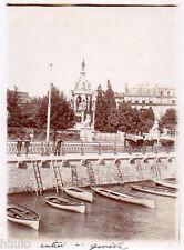 A673 Photographie Originale 1900 Entrée Genève Suisse vintage photography ancien