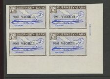 Guernsey SARK 1966 Europa 3s Viscount plane PROOF INVERTED ovpt blk 4