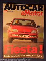 AUTOCAR & MOTOR Magazine 28th Feb 1989 Ford Fiesta