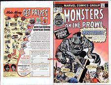 1974 JACK KIRBY & STEVE DITKO ART MONSTERS #28 ORIGINAL PRODUCTION COVER PROOF