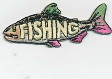 Girl Boy Cub FISHING TROUT TRIP Fun Patches Crests Badges SCOUT GUIDE tour Day