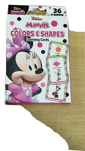 Minnie Mouse Disnet Junior Colors And Shapes Learning Game Cards 36 Cards New