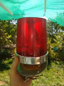 Red  Federal Signal VitaLite   Rotating Light Beacon  120 Volt AC  Not working