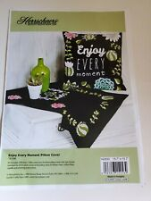 2017 Herrschners Enjoy Every Moment 16 x16 Pillow Topper Embroidery Kit 14-590