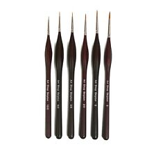 Triangular Grip Fine Detail, Miniature & Model Paint Brush Set of 6