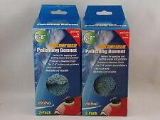 "**LOOK 2 Packs** 7-8"" Microfiber Polishing Bonnet Blue  FREE SHIPPING!!!!"