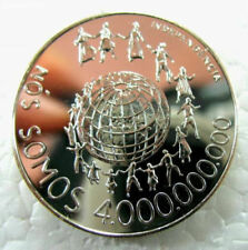 St Thomas Prince 1977 World Population 250 Dobras Silver Coin,Proof