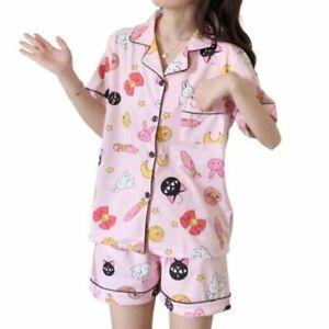Kawaii Clothing Sailor Moon Pajamas Anime Manga Pink Harajuku Japanese Sleepwear