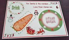 Personalised Santa & Reindeer Snack Mat Placemat  - Christmas Eve