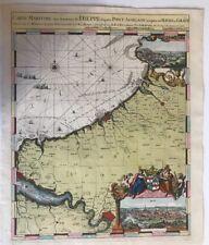 CARTE MARINE 1693 DE HOOGE MORTIER DIEPPE LE HAVRE ROUEN