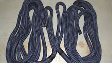 "Pair(2) 3/4"" x 40' Double Braid Nylon Dock Line, Mooring/Anchor Rope, Boat, Navy"