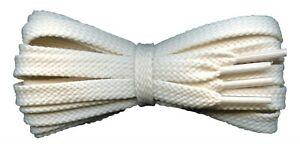 Flat Cream Shoelaces 8 mm for casual and sports shoes for Converse Vans