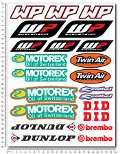 KTM WP Motorex sponsors kit aufkleber set 24x32cm blatt 22 sticker dunlop exc sx