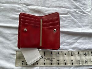 Brand New - Buxton Red Leather Women's Wallet Folding
