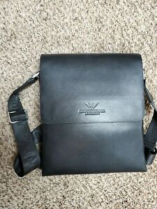 Giorgio Armani Zip Pouch Men's Leather Bag
