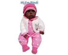 """Jarrah"" Realistic Eyes Open Awake Dark Baby Doll 51cm Cotton Candy Gift Boxed"