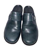 Clarks Women's Slip On Mule Clogs Size 8 Bluish Green 74104