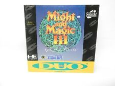Might and Magic III Isles of Terra TurboGrafx-CD/TurboDuo Super CD ~ Manual Only