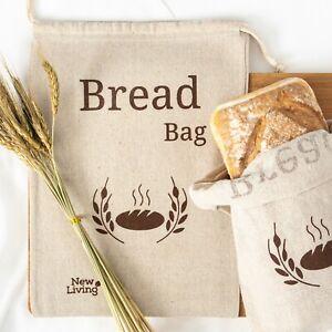 XL New Living Eco Linen, Bread Bag Food Storage Bag 44x35cm