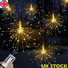 Firework LED Copper Fairy Wire String Lights Remote Control Christmas Decor UK