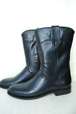 Buffalo Damen Stiefel runde Form Leder schwarz 40 Neu SHOE 49_00 H15362