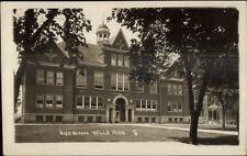 Wells MN High School c1915 Real Photo Postcard