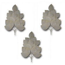 Craft Flowers - Qty 3 - Velvet Sprays / Leaves - Ivory - Great for Millinery