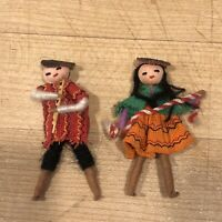 Vintage Set Of South American Miniature Dolls