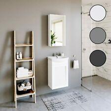 Planetmöbel Badmöbel Set Gäste WC 40cm 45cm 50cm Unterschrank mit Spiegelschrank
