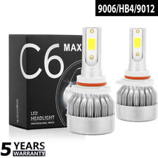 1x 9006 CREE LED Headlight Kit HB4 1100W 59000LM Hi/Lo Beam Bulb Fog Light 6000K