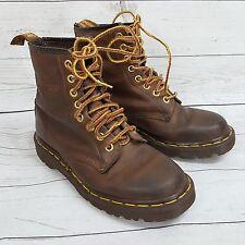 VTG Dr Martens England Brown 1460 8 eyelet leather boots womens UK 4 US 6 EU36
